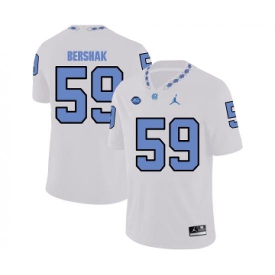 North Carolina Tar Heels 59 Andy Bershak White College Football ...